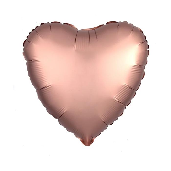 """Шар фольгированный 30"""", сердце, цвет розовое золото - фото 7639761"""
