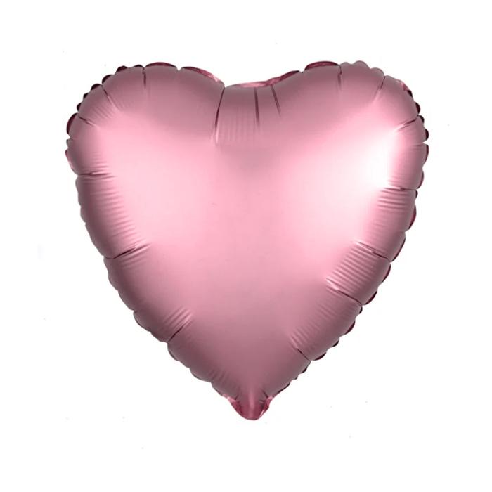 "Шар фольгированный 30"", сердце, цвет фламинго - фото 7639763"