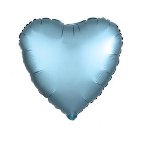 """Шар фольгированный 30"""", сердце, цвет холодный голубой"""