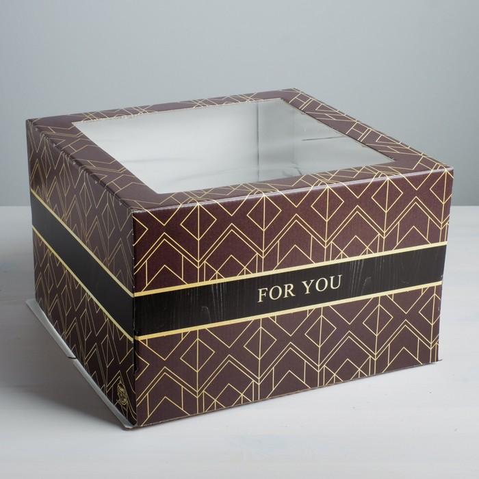 Коробка для торта For you, 30 х 30 х 19 см