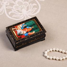 Шкатулка «Иконы», 6×9 см, лаковая миниатюра, микс