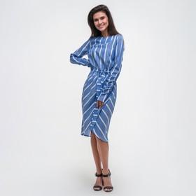 Платье женское MIST миди на запахе, р-р 44-46, синий