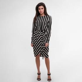 Платье женское MIST миди на запахе, р-р 40-42, чёрный