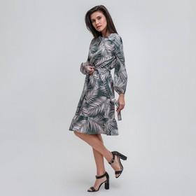 Платье женское MIST миди с воланом, р-р 40-42, зелёный