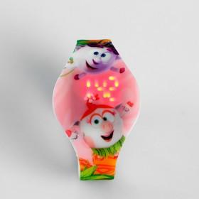 """Электронные наручные часы Фотон, """"Смешарики"""", HWS-62, розовые"""