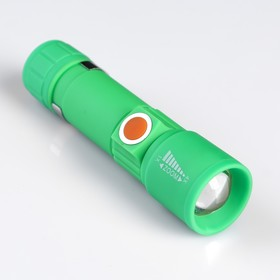 Flashlight rechargeable, 5 watt, 3 mode, 4 hours of battery life, 11x2.8 cm