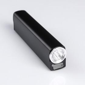 Фонарь-зажигалка аккумуляторный, 5 Вт, 3 режима, 2 ч автономной работы, 13х3.2х2.2 см