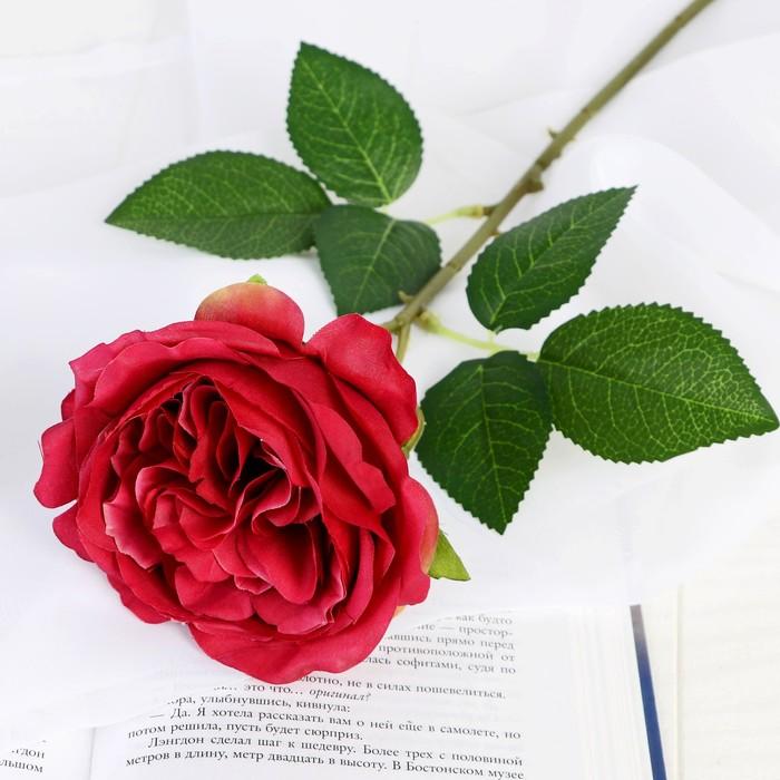 """Цветок искусственный """"Роза Прима"""" 11х45 см бордовый - фото 798471794"""