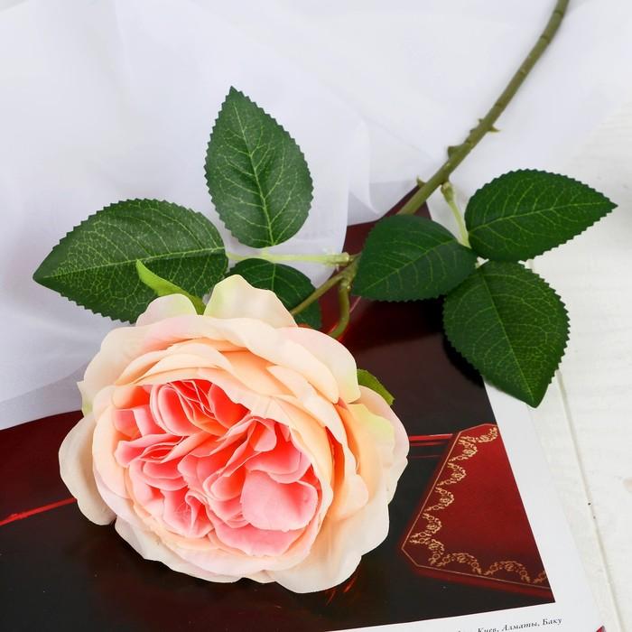 """Цветок искусственный """"Роза Прима"""" 11х45 см оранжевый - фото 798471798"""