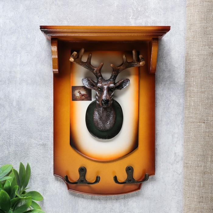 """Крючки декоративные дерево """"Голова оленя"""" 25х18х7 см"""