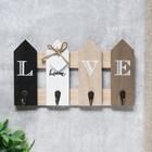 """Крючки декоративные дерево """"Надпись Love на заборе"""" 15х6,5х27 см"""