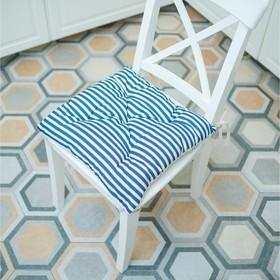 Подушка на стул, размер 45 × 45 см, принт полоска