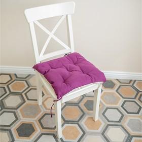 Подушка на стул, размер 45 × 45 см, цвет фуксия