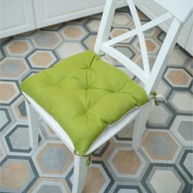 Подушка на стул, размер 45 × 45 см, цвет оливковый
