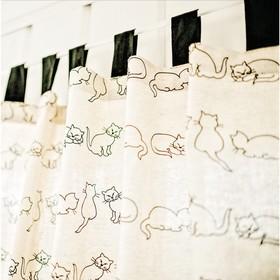 Шторы, размер 147 × 220 см-2 шт, принт кошка