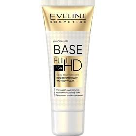 База под макияж Eveline Base Full HD «Выравнивающе-матирующая 3 в 1», 30 мл