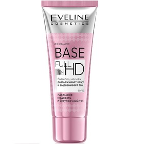 База под макияж Eveline Base Full HD «Разглаживающе-выравнивающая», 30 мл