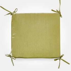 Сидушка на стул бамбук зеленый 34х34х1,5см, жаккард, поролон, пэ100%