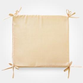 Сидушка на стул бамбук золото 34х34х1,5см, жаккард, поролон, пэ100%