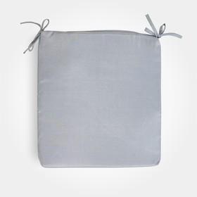 Сидушка на стул бамбук серый 34х34х1,5см, жаккард, поролон, пэ100%