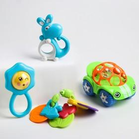 Набор погремушек «Радость малыша», с эластичными деталями, 4 шт, цвет МИКС