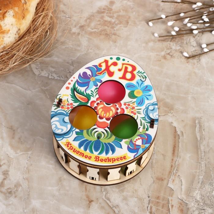 """Коробочка с тремя свечами """"Пасхальные цветы"""" - фото 798472142"""