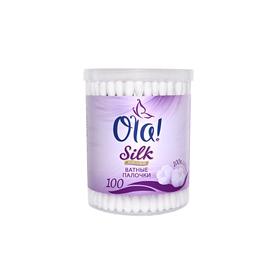 Ватные палочки Ola! Silk sense в банке, 100 шт.