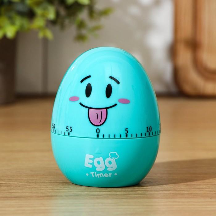Кухонный таймер «Весёлое яйцо», механический, цвет МИКС