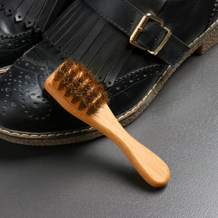 Щётка для обуви из нубука, 12×3 см, 22 пучка