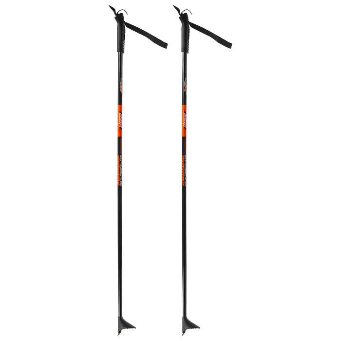 Палки лыжные стеклопластиковые (115 см), цвет микс