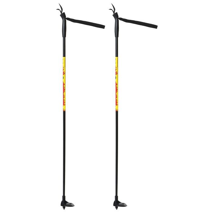 Палки лыжные стеклопластиковые детские (95 см), цвет микс