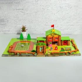 Деревянный развивающий конструктор «Собери школу» 270 деталей, 12×39,5×30,5 см