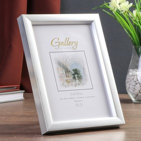Gallery plastic photo frame 15x21 cm 021 silver