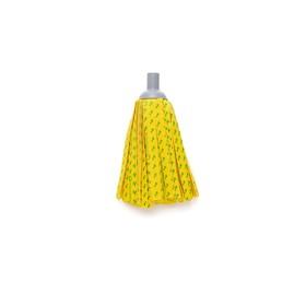 Насадка для швабры с резьбой, ленточная микрофибра, цвет жёлтый Ош