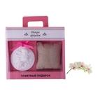 """Набор подарочный """"Ангелочек"""": подушечка-саше, подвеска-медальон из гипса, аромат дикая орхидея"""
