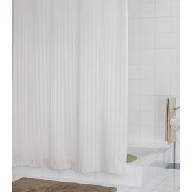 Штора для ванных комнат Satin, цвет кремовый, 180х200 см