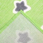 Постельное бельё Галчонок «Звёздочки» цвет зелёный, 147х112, 150х100, 40х60 - 1шт, бязь, 120±6 гр - фото 107059200