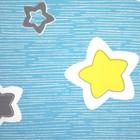 Постельное бельё Галчонок «Звёздочки» цвет бирюзовый 147х112, 150х100, 40х60 - 1шт, бязь, 120±6 гр - фото 7400244