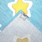 Постельное бельё Галчонок «Звёздочки» цвет бирюзовый 147х112, 150х100, 40х60 - 1шт, бязь, 120±6 гр - фото 7400245