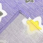 Постельное бельё 1,5 сп Samy ««Звёздочки» цвет фиолетовый 147х210, 150х210, 70х70 - 2шт, бязь 125 г/м - фото 105556926