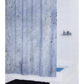 Штора для ванных комнат Cement, цвет серый, 180х200 см