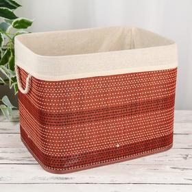Корзина для хранения «Бамбук», 40×30×31 см, цвет тёмно-коричневый