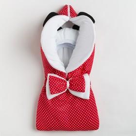 Одеяло-конверт для новорожденного, цвет красный