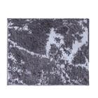 Коврик для ванной комнаты Marmor, цвет серый, 55х50 см
