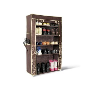 Полка для обуви с чехлом, 700x300x1100,темно-коричневый