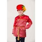 Карнавальный костюм «Кузя», сорочка в горох, головной убор, р. 30, рост 116 см - фото 105521850