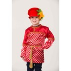 Карнавальный костюм «Кузя», сорочка в горох, головной убор, р. 38, рост 152 см - фото 105521855