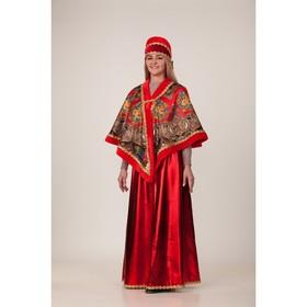 Карнавальный костюм «Масленица красная», накидка, головной убор, р. 48-50