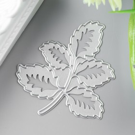 """A knife for cutting steel """"Twig with leaves"""" 5,6x5 cm"""