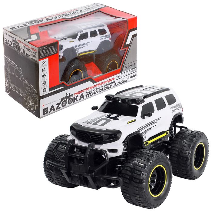 УЦЕНКА Машина Bazooka на р/у 2WD 1:10, цвет белый